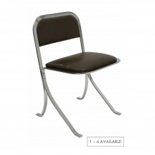 Chrome upholstered chair (one - four available)