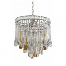 Circular Tear Drop Crystal Murano Glass Chandelier