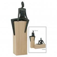 Bronze Seated Figural Sculpture