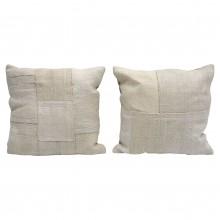 Ivory/White Square Cotton Cushion