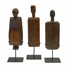 Mounted African Wood Sculptures
