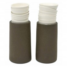 Pair of Studio Pottery Stoneware and Porcelain Vases