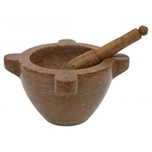 19th Century French Marble Mortar and Pestle
