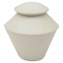 White Porcelain Double Cone Jar