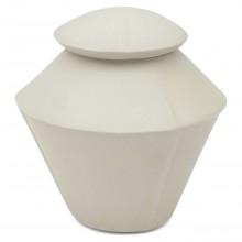 White Porcelain Double Cone Jar