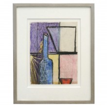 Abstract Geometric French Gouach Painting