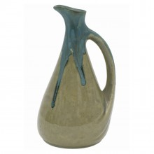 Stoneware Drip Glazed Pitcher by Denbac