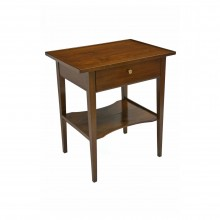 Cherry Table with Drawer and Lower Shelf