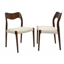 Set of Four Teak Dining Chairs by Niels Otto Moller