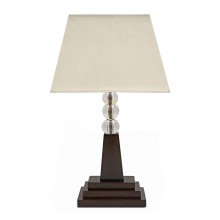 Art Deco Oak and Glass Ball Table Lamp