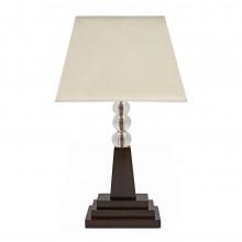 Art Deco Oak and Glass Ball Table Lamp