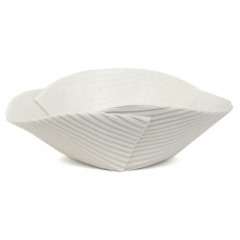 Hand Built Corregated Porcelain Bowl