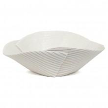 Hand Built Corregated Porcelain Bowl