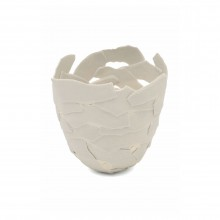"Porcelain ""Fragment"" Bowl by Fanny Laugier"