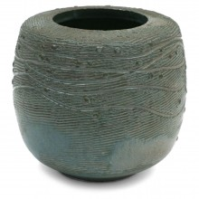 Korean Incised and Textured Stoneware Vase