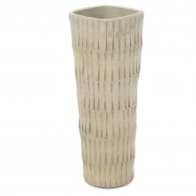 Mid Century Carved Japanese Studio Pottery Vase