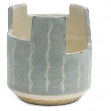 Gray Vase with Textured Glaze