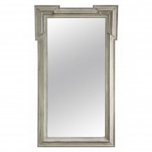 Painted Wood Mirror with Extended Corners