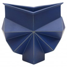 Blue Geometric Vase by Jan van der Vaart