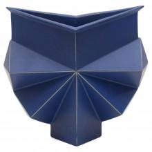 Blue Geometric Vase by Jan van der Vaart
