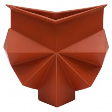 Burnt Orange Geometric Vase by Jan van der Vaart