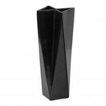 Black Ceramic Dutch Vase