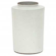 Dutch White Glazed Terra Cotta Vase