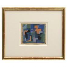 Abstract Gouache on Paper by Joseph Iliu
