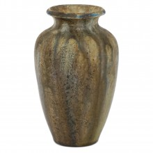 French Brown and Beige Drip Glazed Vase