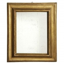 Molded giltwood mirror