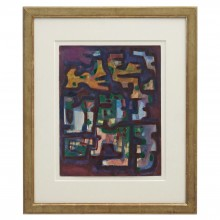 Abstract Watercolor Painting by Maurice Morel