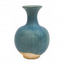 Blue/Green Drip Glazed Terra Cotta Vase