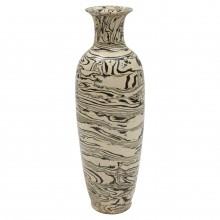 Tall Thin Marbleized Stoneware Vase