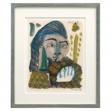 Abstract Watercolor Painting of Woman by Raymond Debieve