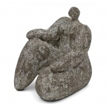 Sculpture in Gres Noir of Woman by Cristelle Berberian