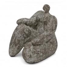 Sculpture in Gres Noir of Woman by Cristelle Berberian