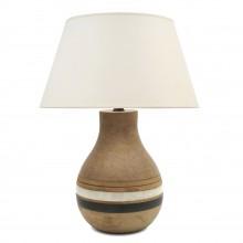 Striped Ceramic Table Lamp by Bruno Gambone