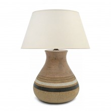 Striped Ceramic Table Lamp by Bruno Gambone