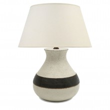 Striped Stoneware Table Lamp by Bruno Gambone