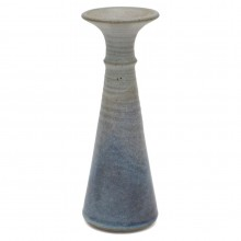 Gray and Blue  Stoneware Studio Art Vase