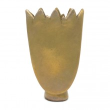 Matte Glazed Gold Tulip Vase