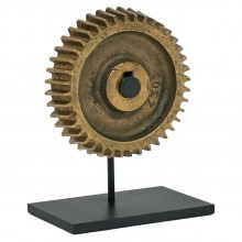 Bronze Gear on Iron Stand