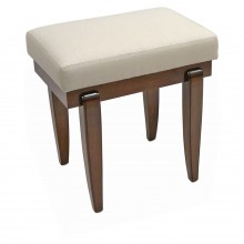 Art Deco Mahogany Bench with Tapering Legs