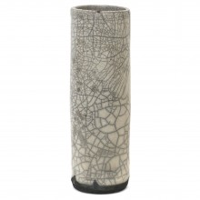 Crackle Glazed Raku Fired Vase