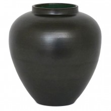 Dutch Stoneware Black Metallic Glazed Vase