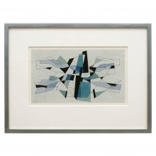 Hand Colored Abstract Engraving by J. Morin