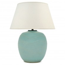 Large Light Blue/Green Japanese Ceramic Lamp