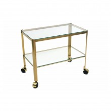 Brass and Glass Two Tiered Cart