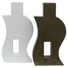 Set of Two Shaped Porcelain Vases