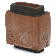 Raku Fired Stoneware Vase